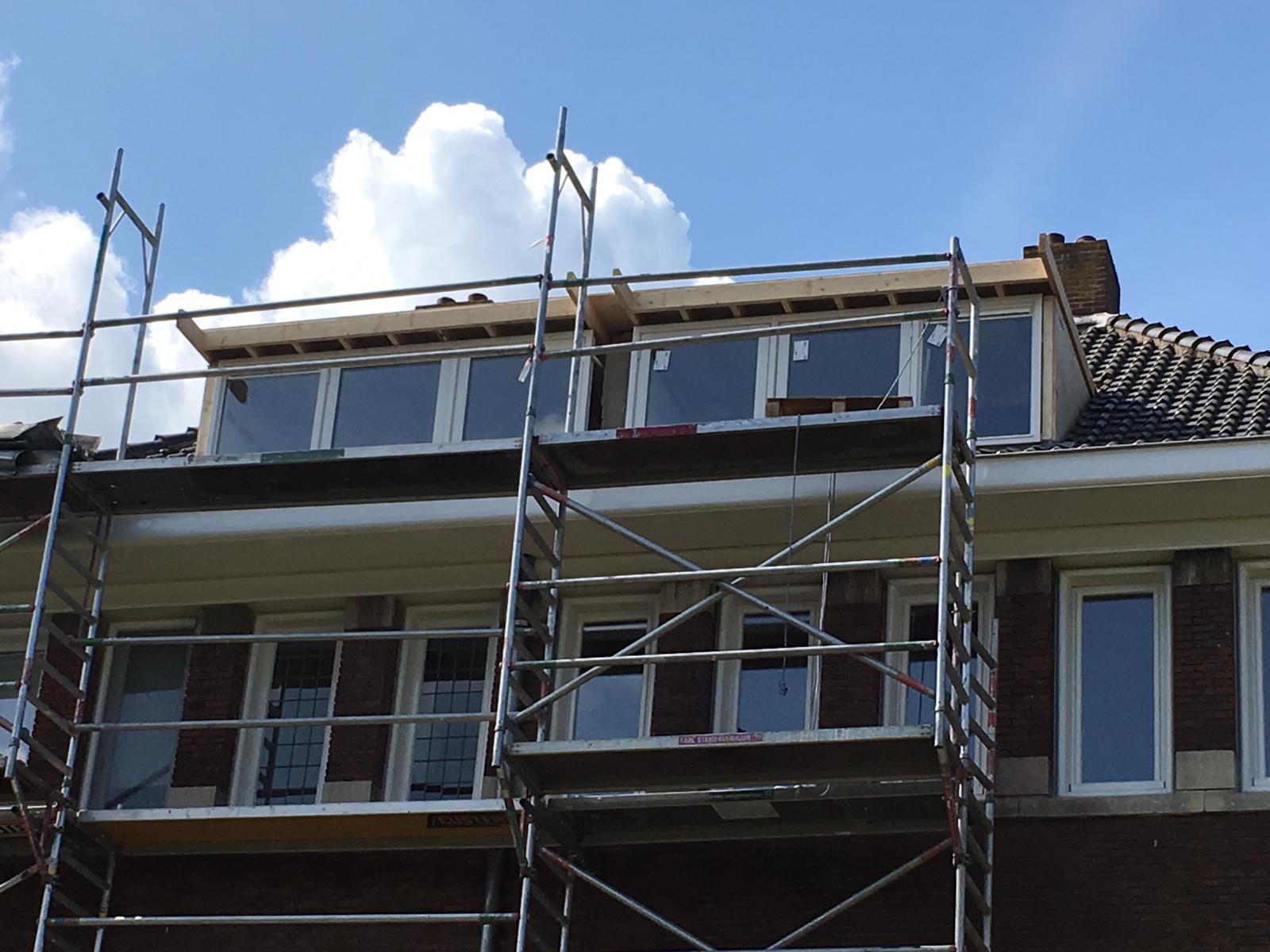 dakkapel bouwen steiger