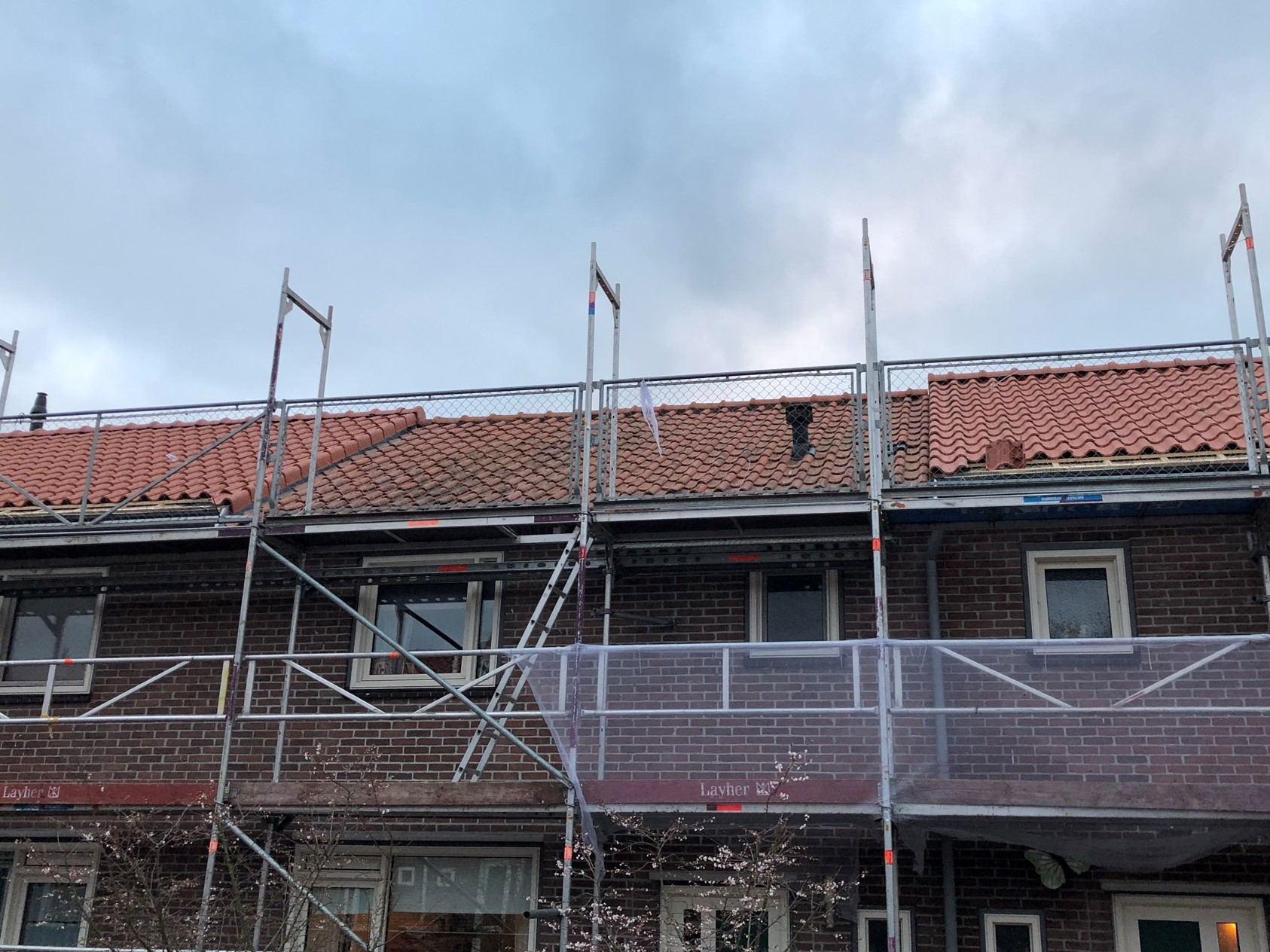 Dak tijdens vervangen dak