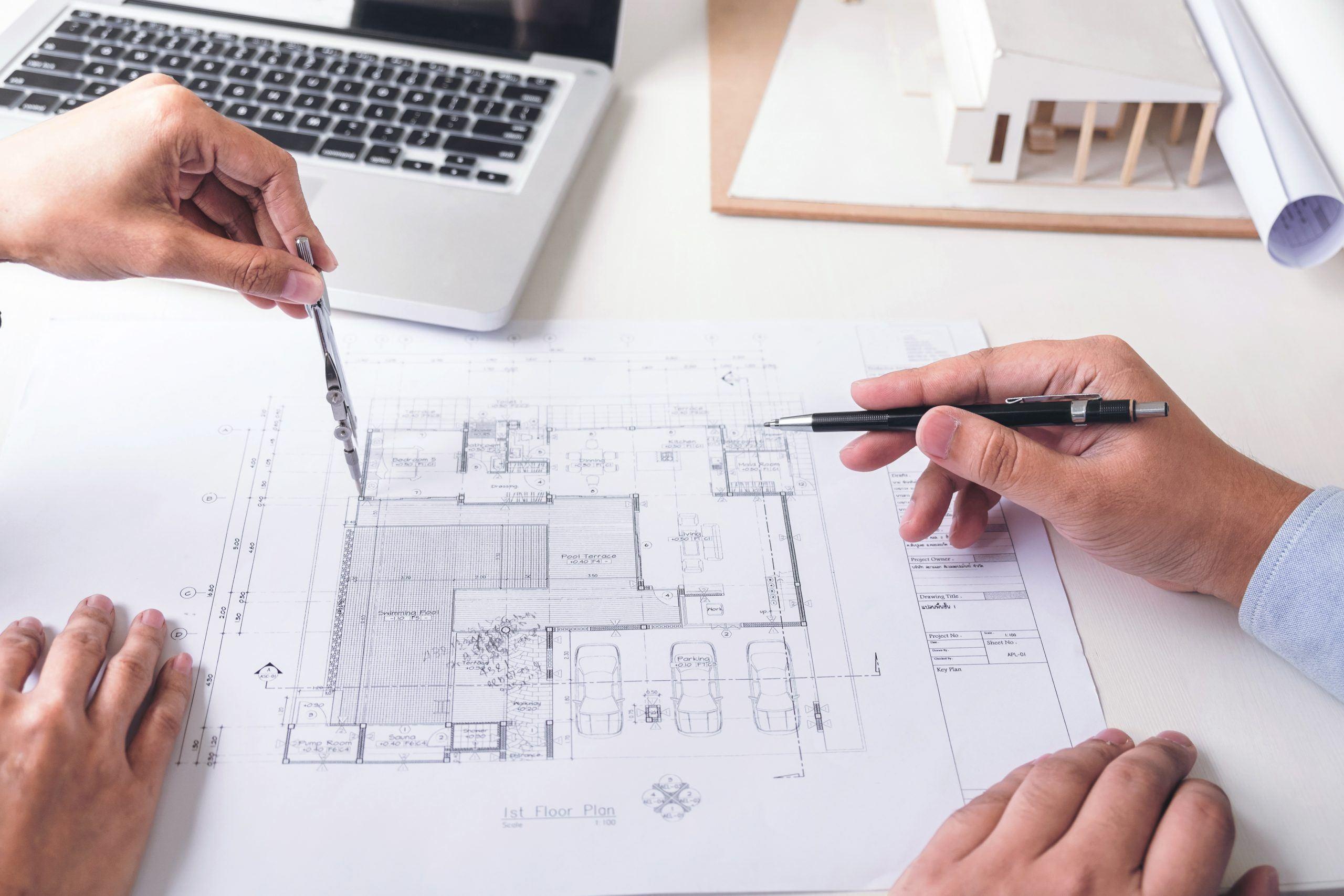 Tekening van ontwerp tijdens ontwerpfase