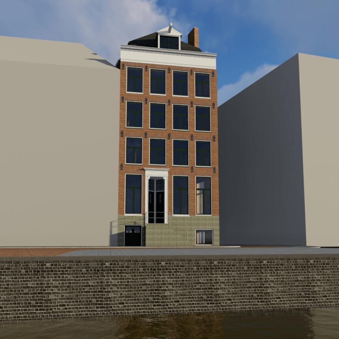 3d uitwerking woning amsterdam